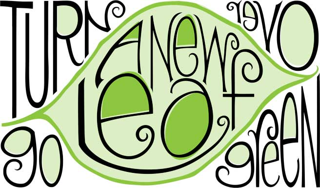 Turn Over A New Leaf, Go Green type design