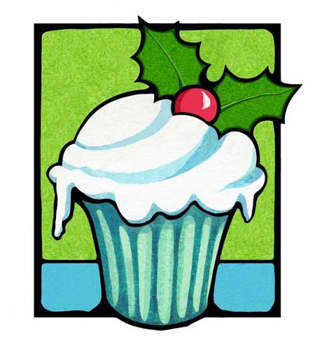 33-Christmas-Holly-Cupcake