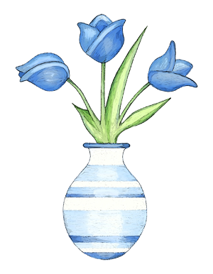 22 Blue Tulips