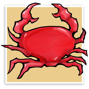 Red Crab sand
