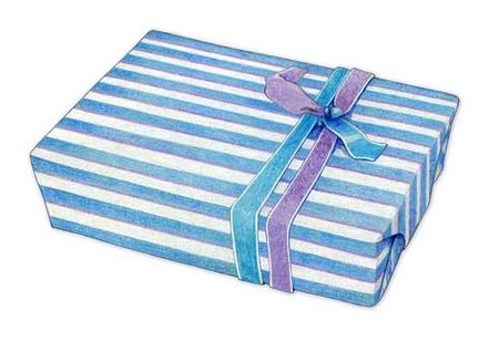 16-Blue-Striped-Gift