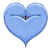 27 Two Doves One Heart blue