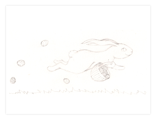 43 Easter Rabbit Run sketch