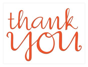 13 Thank You Cursive tangerine