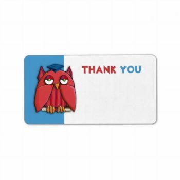 19 red_owl_grad_aqua_thank_you_gift_tag_sticker_label-p106608477647671751env0y_500