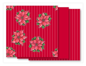 Poinsettia Joy red Fabrics