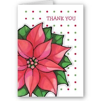 58 poinsettia_joy_dots_border_thank_you_note_card-p137516262022577858en8cu_325
