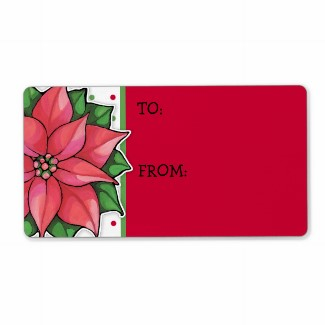 54 poinsettia_joy_dots_gift_tag_sticker_label-p106613233117480647bh3jf_325