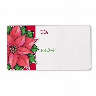 54 poinsettia_joy_red_gift_tag_sticker_label-p106770568224250016bh3jf_325