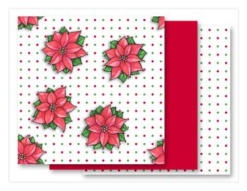 Poinsettia Joy dots Fabrics