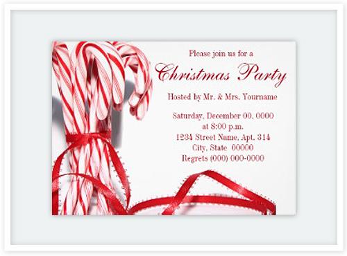 Christmas Candy Invitation Cards Floating Lemons Treats – Christmas Card Invites