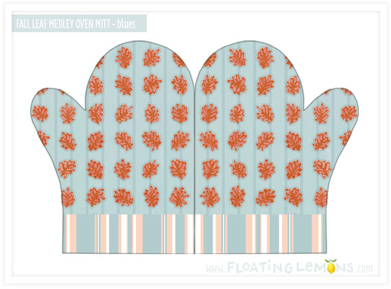 102-Fall-Leaf-blue-Oven-Mitt