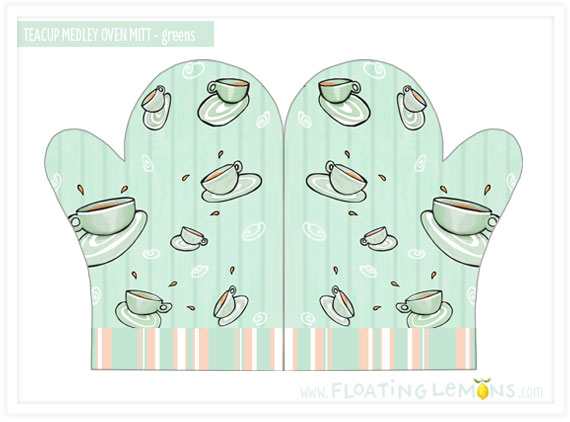 102-Teacup-green-Oven-Mitt
