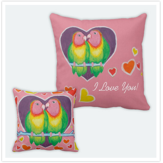 116-Love-Birds-I-Love-You-Square-Pillow