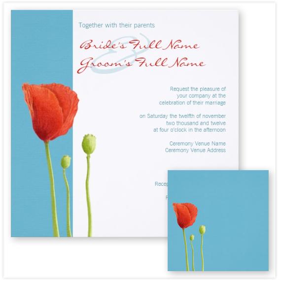 125-Red-Poppy-aqua-Wedding-Invitation