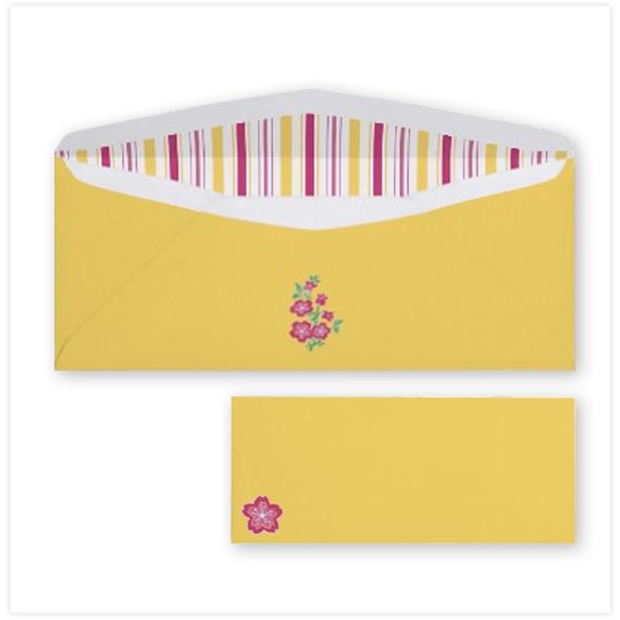143-Sakura-Batik-Stripes-yellow-10-Envelope