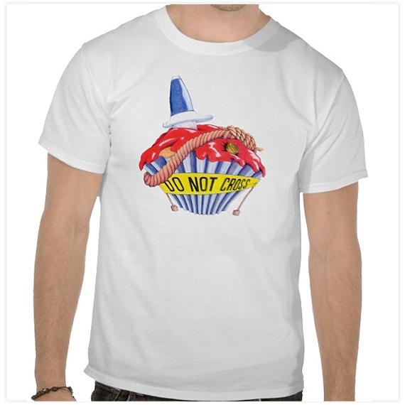Crime Scene Cupcake Tee-Shirts