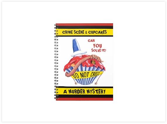 Crime Scene Cupcake 2 Murder Mystery Notebook