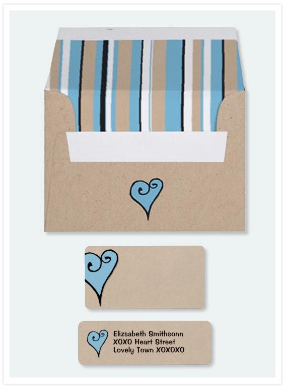 Heart-Motif-blue-kraft-envelope