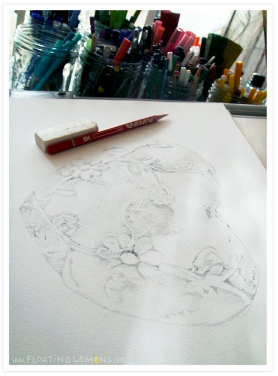 White-heart-sketch