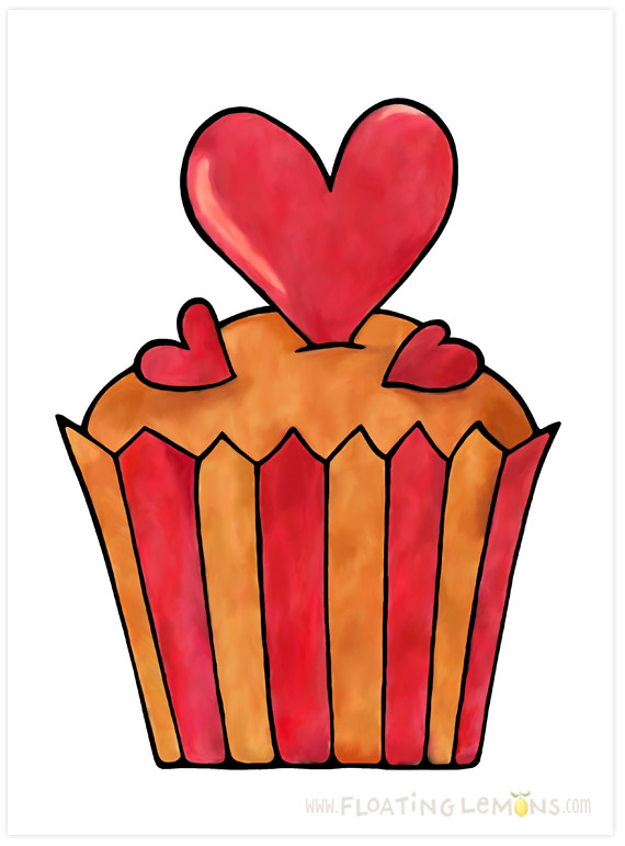 Quirky-cupcake-red-heart