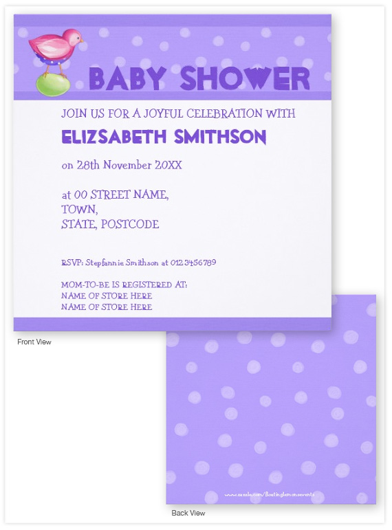 Pink-Bird-purple-2-Baby-Shower-Invitation