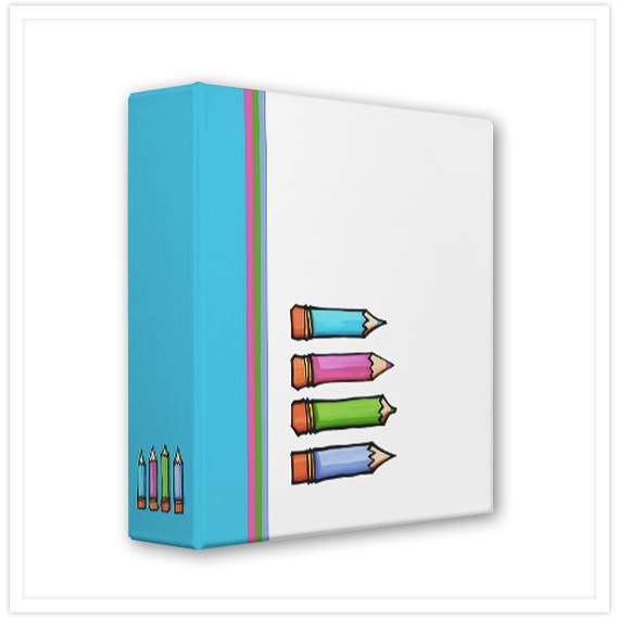 Spring-Colored-Pencils-Binder