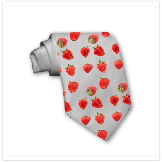 Spring-Strawberries-Falling-grey-Tie