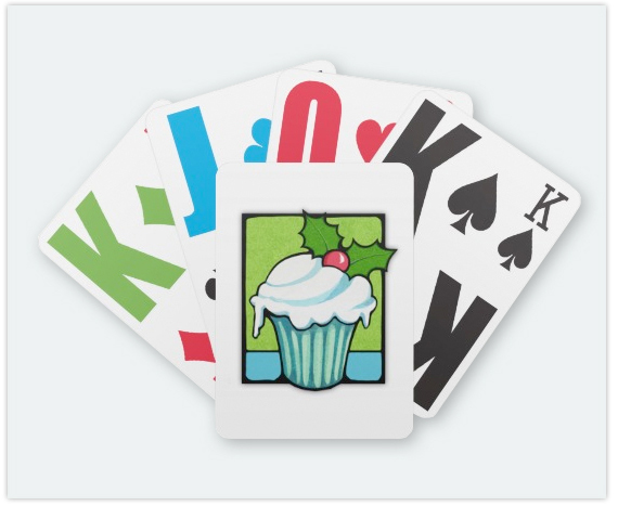 114-Christmas-Holly-Cupcake-Playing-Card