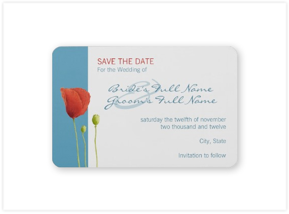 125-Red-Poppy-aqua-Save-the-Date-Magnet