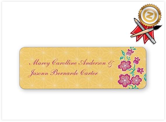 143-TBA-Sakura-Floral-Batik-Bride-&-Groom-Sticker