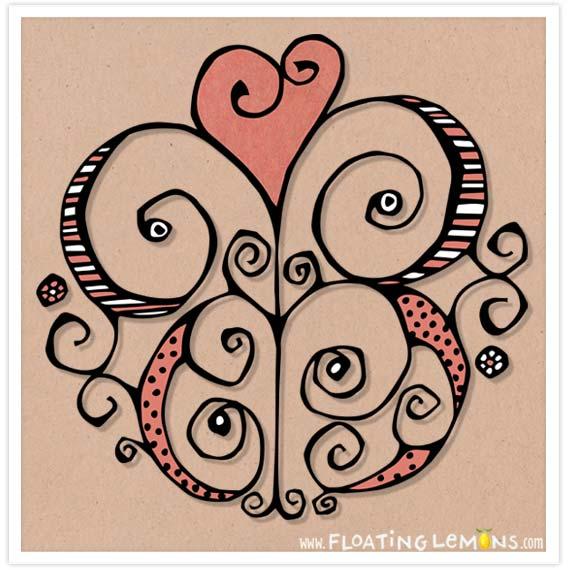 Heart-motif-red
