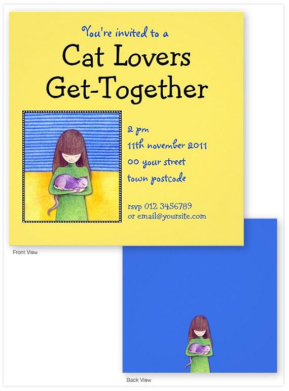 Cat-Cuddle-yellow-Invitation