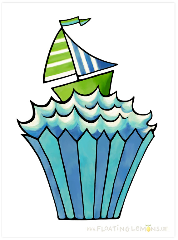 Quirky-cupcake-blue-boat
