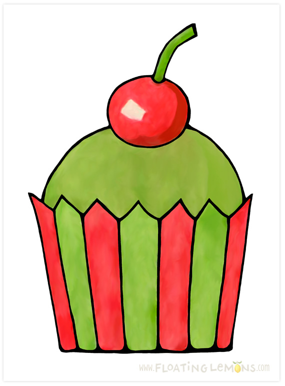 Quirky-cupcake-red-cherry