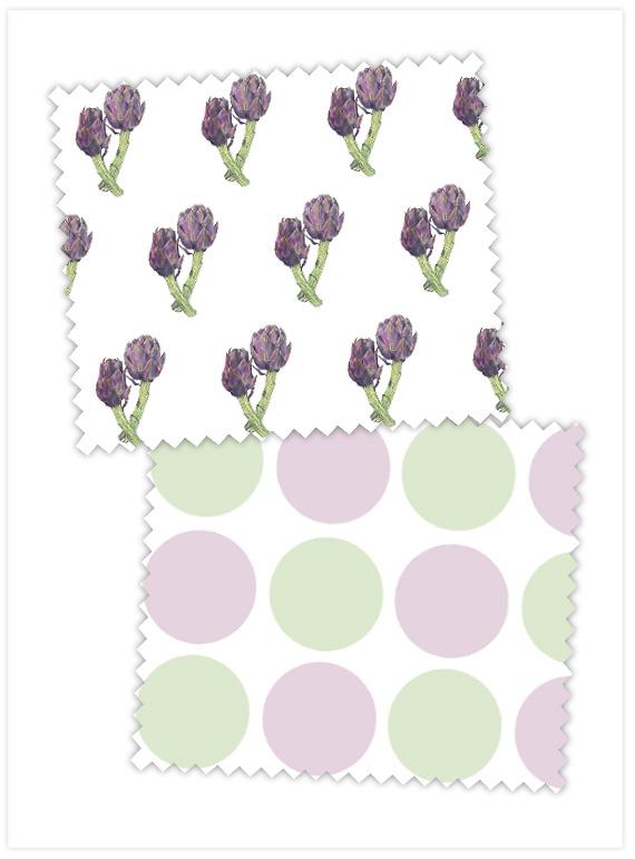 Fabric-Purple-Artichokes