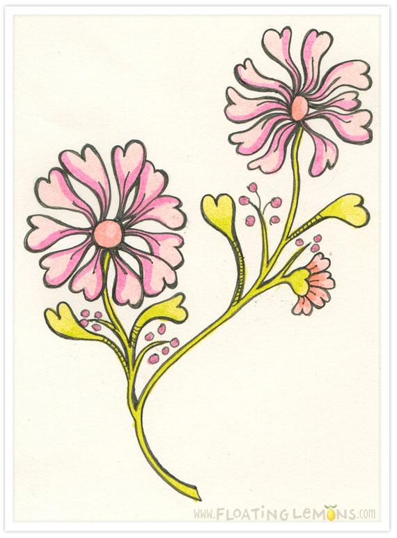 Doodle-heart-flowers-2