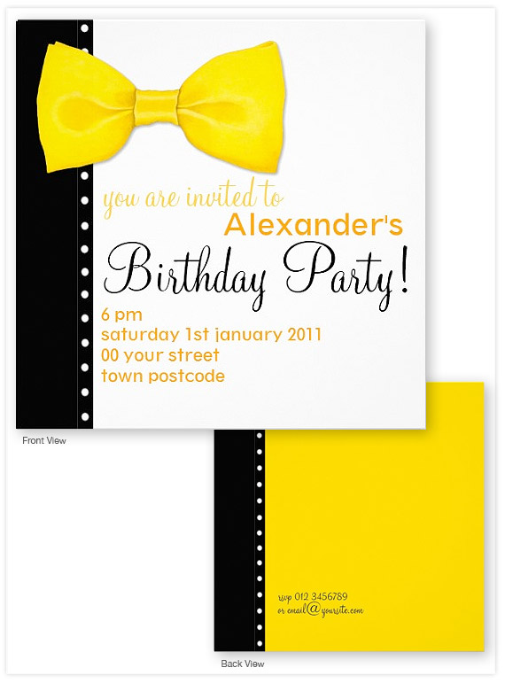 Lemon-Bow-Tie-Birthday-Invitation