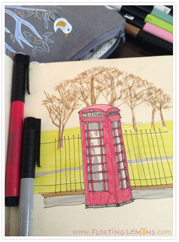 British-telephone-booth-sketch