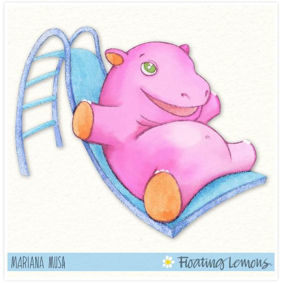 Baby hippo watercolour final