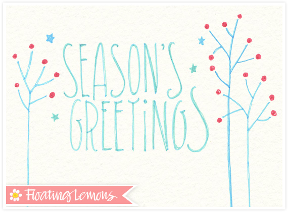 Christmas typography sketch 1