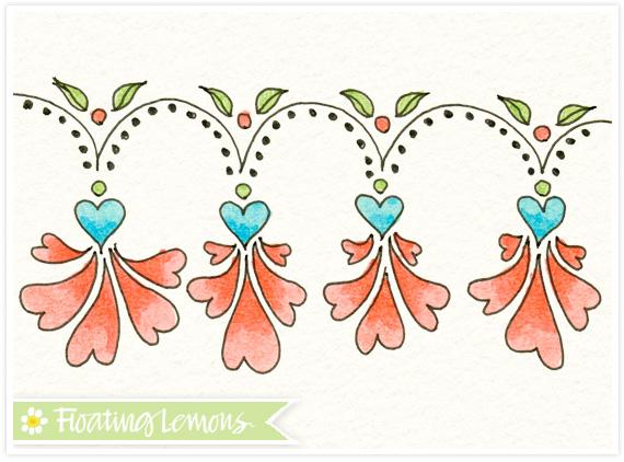 Flower border doodle 2 by Floating Lemons