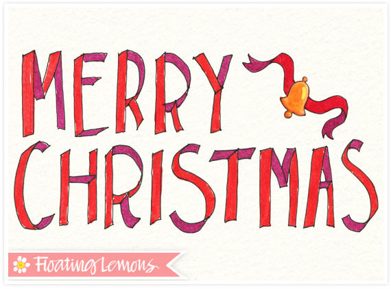 Christmas typography sketch 2