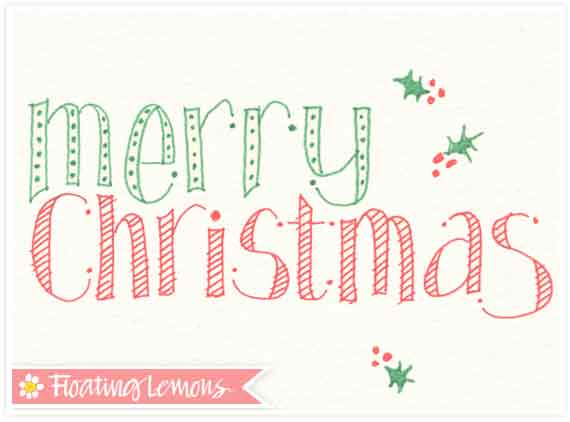 Christmas typography sketch 3