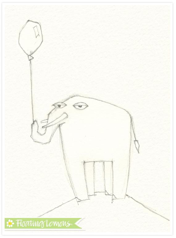 Elephant-balloon-sketch-2