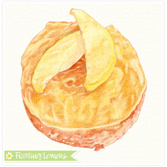 Pear tart sketch mariana musa