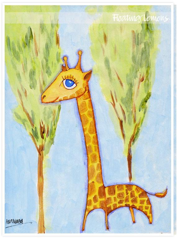Baby giraffe sketch original
