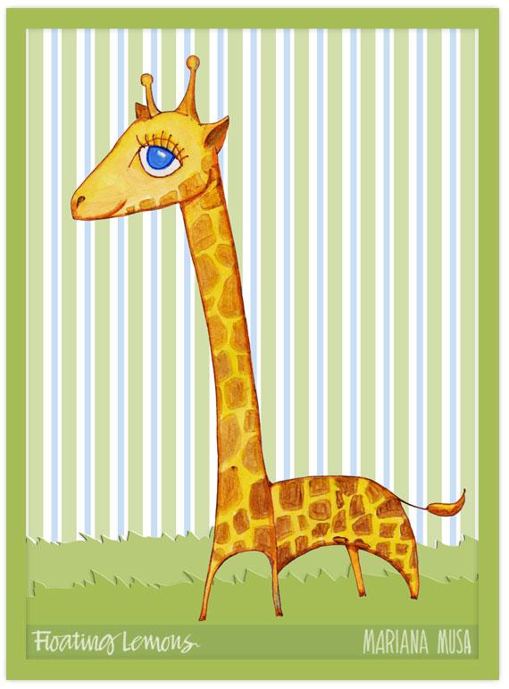 Baby giraffe sketch