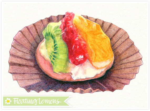 Fruit tart sketch by Mariana Musa