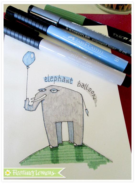 Elephant-balloon-sketch-3